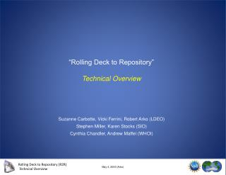 """Rolling Deck to Repository"" Technical Overview"