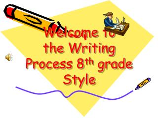 Welcome to  the Writing Process 8 th  grade Style