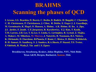 BRAHMS  Scanning the phases of QCD