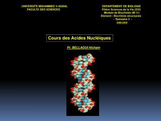 UNIVERSITE MOHAMMED V-AGDALDEPARTEMENT DE BIOLOGIE