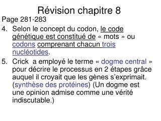 R�vision chapitre 8