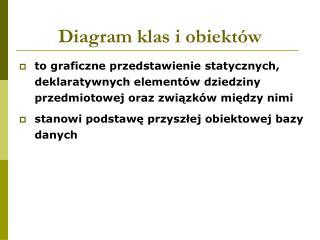 Diagram klas i obiektów