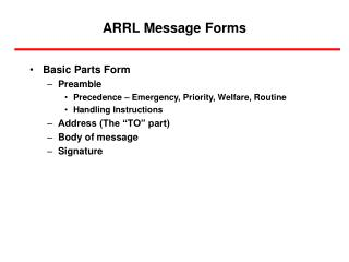 ARRL Message Forms