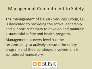 Management Commitment to Safety