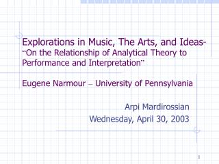 Arpi Mardirossian Wednesday, April 30, 2003