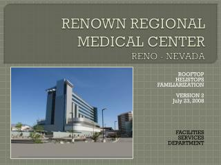 RENOWN REGIONAL  MEDICAL CENTER RENO - NEVADA