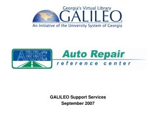 GALILEO Support Services September 2007