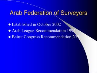 Arab Federation of Surveyors