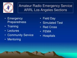 Amateur Radio Emergency Service ARRL Los Angeles Sections