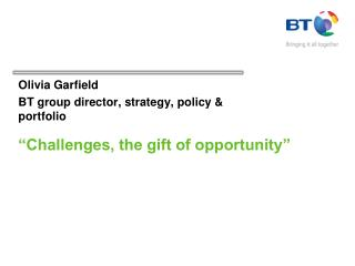 """Challenges, the gift of opportunity"""