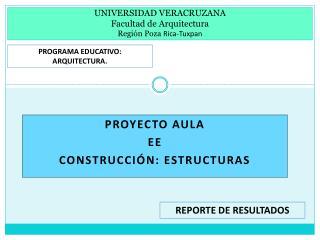 UNIVERSIDAD VERACRUZANA Facultad de Arquitectura Región Poza  Rica-Tuxpan