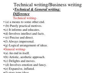 Technical writing/Business writing