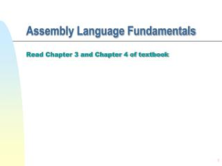 Assembly Language Fundamentals