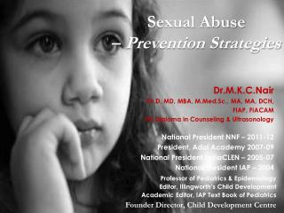 Sexual Abuse  –  Prevention Strategies