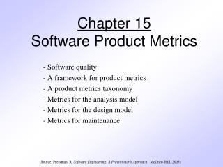 Chapter 15 Software Product Metrics