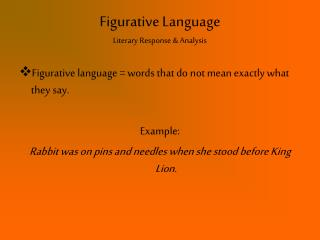 Figurative Language Literary Response & Analysis