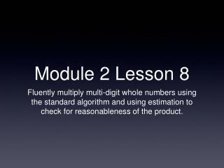 Module 2 Lesson 8