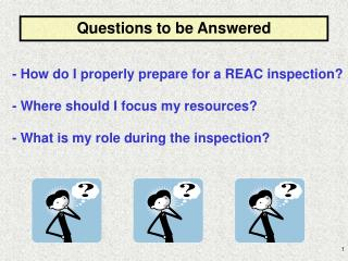 - How do I properly prepare for a REAC inspection