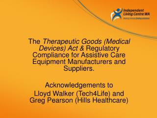 Therapeutic Goods Administration TGA