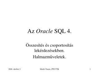 Az  Oracle  SQL 4.