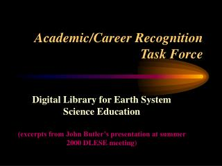 Academic/Career Recognition Task Force