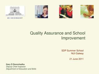Quality Assurance and School Improvement