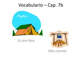 Vocabulario  � Cap. 7b