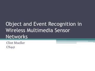 Object and Event Recognition in Wireless Multimedia Sensor Networks