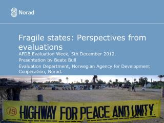 Fragile states: Perspectives from evaluations
