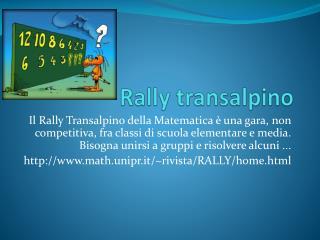 Rally transalpino