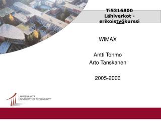 Ti5316800 Lähiverkot -erikois työ kurssi