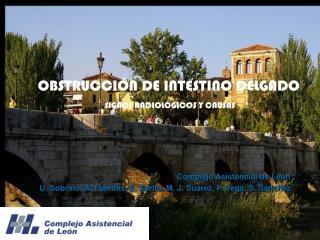 Complejo Asistencial de Le�n U. Sobrino, A. Fuentes, E. Zorita, M. J. Su�rez, P. Vega, S. S�nchez