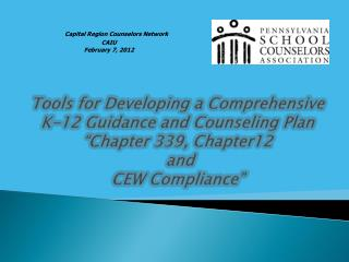 Capital Region Counselors Network CAIU  February 7, 2012
