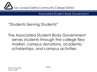Associated Student Body Government