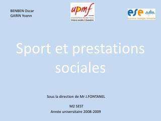 Sport et prestations sociales