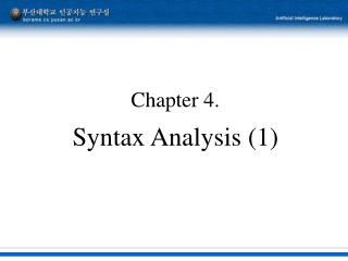 Chapter 4. Syntax Analysis (1)