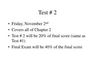 Test # 2