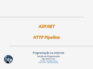 ASP.NET HTTP  Pipeline