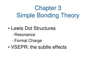 Chapter 3 Simple Bonding Theory