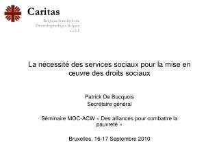 La nécessité des services sociaux pour la mise en œuvre des droits sociaux