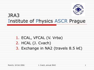 JRA3 I nstitute of  P hysics  ASCR Prague