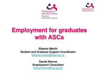 Employment for graduates with ASCs
