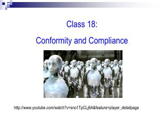 Class 18:   Conformity and Compliance