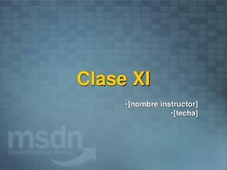 Clase XI