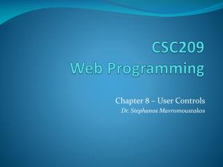 CSC209  Web Programming