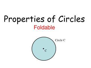 Properties of Circles Foldable