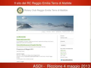Il sito del RC Reggio Emilia Terra di Matilde
