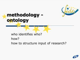 Methodology - ontology