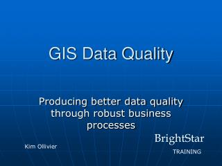 GIS Data Quality