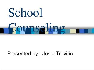 School Counseling